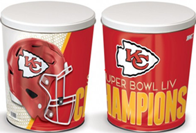 *3 1/4 Gallon KC CHIEFS CHAMPIONSHIP CAN